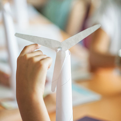childs hand spinning paper | Rothewood Academy