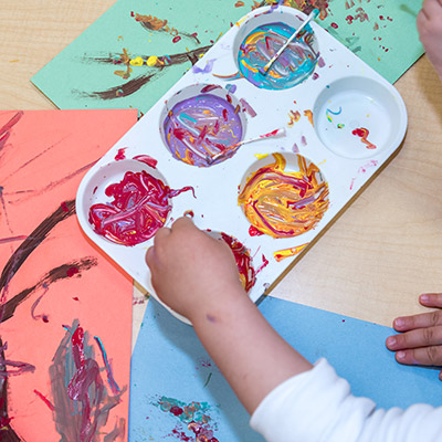 Early Learning | Painting at Rothewood Academy