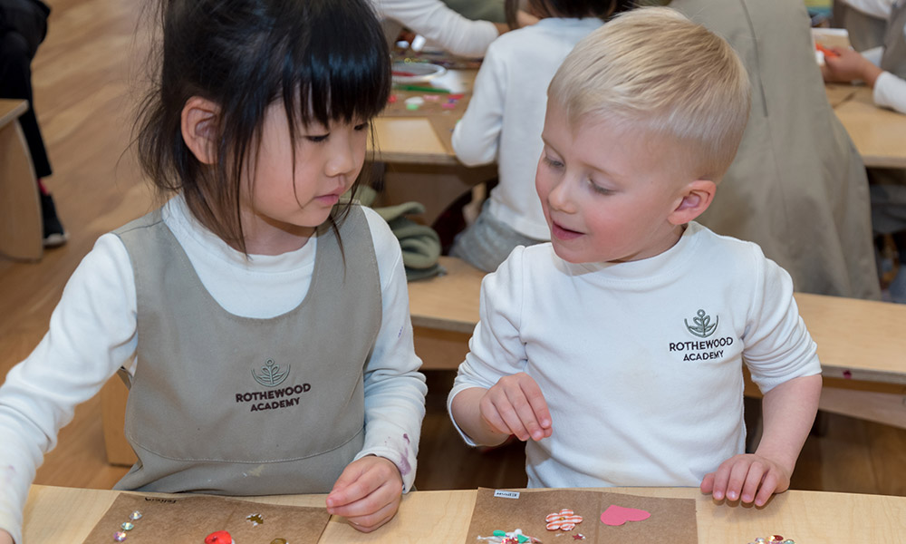 Kids Playing Creative at Rothewood Academy