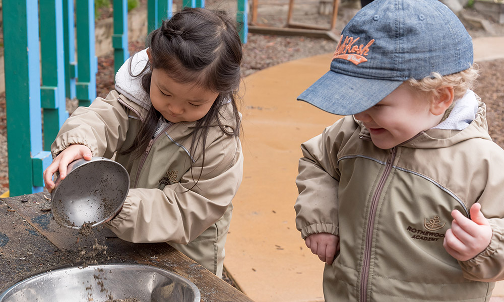 Kids Playing Outside at Rothewood Academy